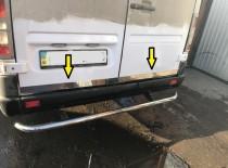 Хромированная кромка багажника Мерседес Спринтер 901