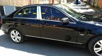 Хром молдинги на дверные стойки Mercedes W204