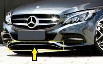 Хром накладка на передний бампер Mercedes C-class W205
