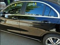 Хром окантовка стекол Mercedes C-class W205 верхняя