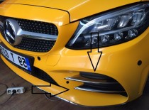 Хром накладки на противотуманки Mercedes AMG W205