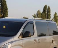 Установка комплект серых рейлингов на крышу Hyundai H1