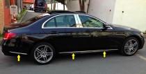 Хромированные молдинги дверей Mercedes W213
