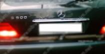 Хром накладка над номером Mercedes W140