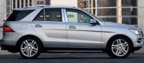 Хром молдинги дверных стоек Mercedes ML-class W166