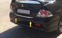 Хромированная кромка багажника Митсубиси Лансер 9