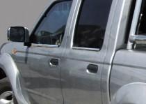 Хром молдинги стекол Nissan NP300
