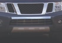 Хром накладка на передний бампер Nissan Navara 2 D40