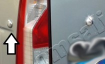 Хромированные заглушки на Nissan NV400