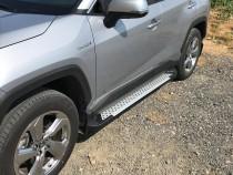 Пороги площадкой Toyota Rav 4 5 Almond серые