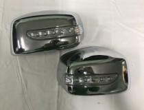 Omsa Line Хром накладки на зеркала Nissan Tiida 1 LED