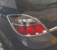 Omsa Line Хром накладки на стопы Opel Astra H хэтчбек
