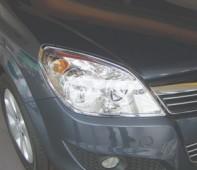 Хром окантовка передних фар Opel Astra H хэтчбек