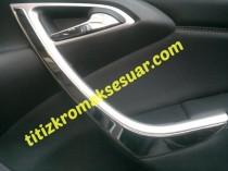 Хром накладки на карточки дверей Opel Astra J