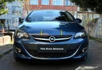 Хром накладки на решетку радиатора Opel Astra J