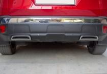 Хром обводки на задний бампер Opel Grandland X