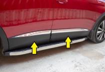 Хромированные молдинги дверей Opel Grandland X