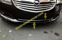 Хром накладка на передний бампер Opel Insignia 1