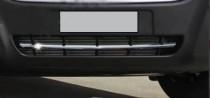 Хром накладка на решетку бампера Opel Movano B