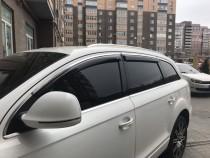 Ветровики стекол Audi Q7 с хром молдингом