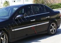 Хромированные молдинги дверей Opel Vectra C