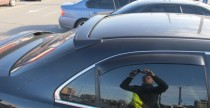 Спойлер на стекло Honda Accord Cl7 sport (спойлер на заднее стекло Хонда Аккорд 7 спорт)