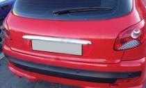 Хром планка над номером Peugeot 206 рестайл