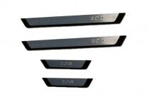 Защитные накладки порогов Peugeot 208