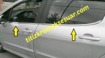 Хромированные молдинги стекол Peugeot 308 1