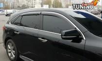 Ветровики с хромом Acura MDX 3