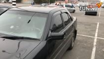 Ветровики на двери Mercedes W202 комплект 4шт