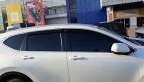 Ветровики на двери Honda Cr-V 4 с хром полосой