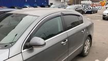 Ветровики с хромом Volkswagen Passat B6 полный комплект