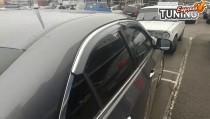 Ветровики с хром молдингом Honda Accord 8