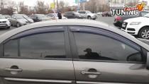 Дефлекторы окон Hyundai Accent 3 полный комплект