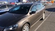 Ветровики с хромом Volkswagen Passat B7 универсвл