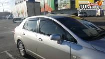 HIC Ветровики на двери Nissan Tiida 1 в кузове седан
