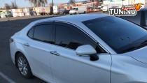 Ветровики с хромом Toyota Camry V70 комплект 4шт