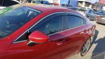 Ветровики с хромом Mazda 6 GJ полный комплект 4шт