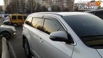Ветровики с хромом на Toyota Highlander 3 полный комплект