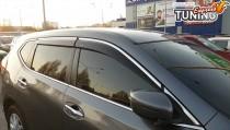 Ветровики с хромом Nissan X-Trail T32 оригинал