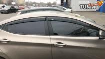 Боковые ветровики для Hyundai Elantra 5 MD фото