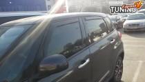 Вставные ветровики окон Fiat 500L комплект 4шт