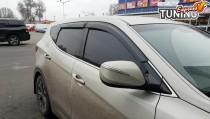 Ветровики на Hyundai Santa Fe 3 DM полный комплект