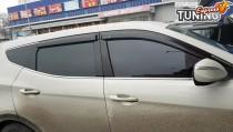 Дефлекторы окон на Hyundai Santa Fe 3 DM полный комплект