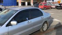 Ветровики на Mitsubishi Lancer 9 полный комплект 4шт