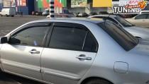 Дефлекторы окон Mitsubishi Lancer 9 полный комплект 4шт