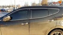 Ветровики с хромом Hyundai Santa Fe 3 DM оригинал
