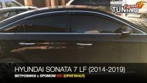 Ветровики с хромом Hyundai Sonata 7 LF комплект 2шт