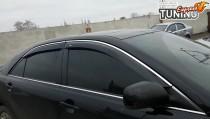 Купить ветровики с хромом Тойота Камри 40